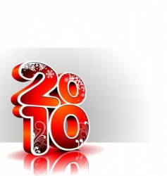 happy new year 2010 vector image vector image