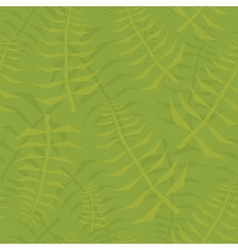 Jungle leaf seamless green pattern vector