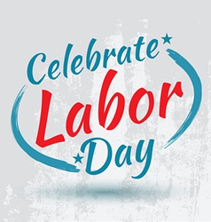 Labor day poster vector