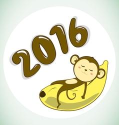 Monkey2016 vector image vector image