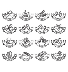 nut icons vector image