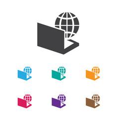 of bureau symbol on computer vector image