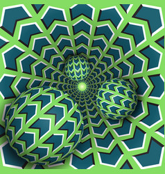 optical three balls are moving in vector image vector image