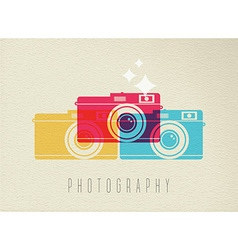 Photography camera icon concept color design vector
