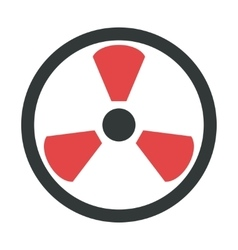 Radiation warning attention sign icon vector