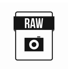 RAW file icon simple style vector image vector image