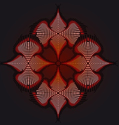 Red flower background fraktal vector image
