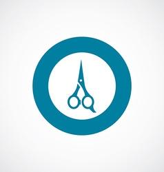 scissors icon bold blue circle border vector image