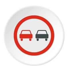 Sign overtaking icon flat style vector image vector image