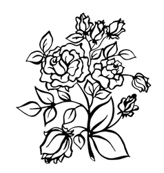Vintage rose vector image