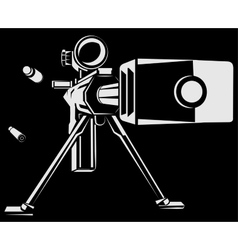 with directional sniper gun vector image vector image