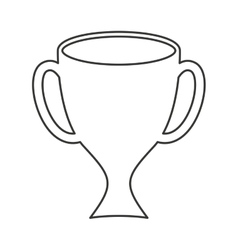 Trophy green isolated icon vector