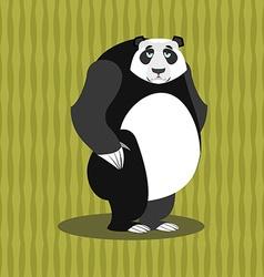 Sad panda Sorrowful Chinese bear Tragic wild vector image