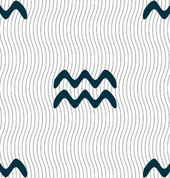 Aquarius sign seamless pattern with geometric vector