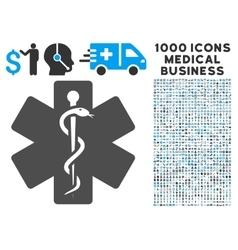 Medical emblem icon with 1000 medical business vector