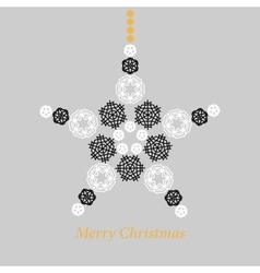 Christmas star made from snowflakes vector