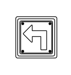Figure emblem notice with warning sign vector