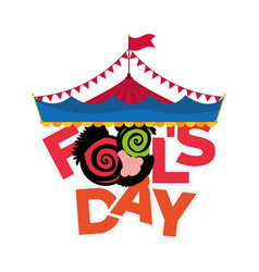 April fools day greeting card image vector