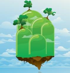 floating island vector image