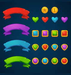 Gold and gems tresarues bubble shooter match 3 vector