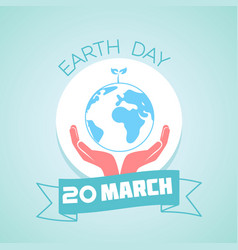 20 march earth day vector