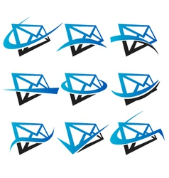Envelope Logo Icons vector image