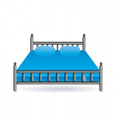 Bed icon vector