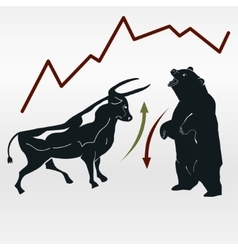 Exchange bull and bear market report vector