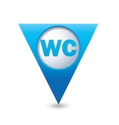 toilet BLUE triangular map pointer vector image