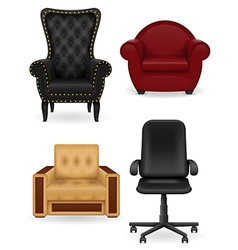Set armchair vector