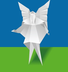 paper angel vector image