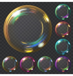 Set of soap bubbles vector