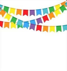 Party flags on a white background vector