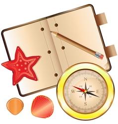 Golden compass small vector