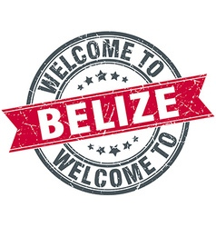 Welcome to belize red round vintage stamp vector