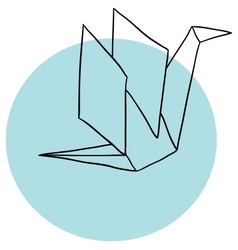 Paper crane vector image