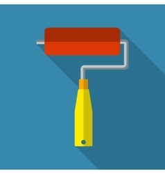 Paint roller flat icon vector