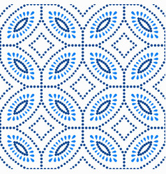Blue flower pattern boho beads background vector