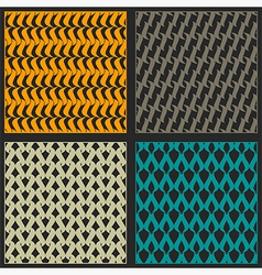 Bright reticulated patterns vector image vector image