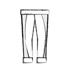 Contour fashion man pants cloth style vector