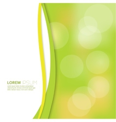 Cover with blurred background and bokeh effect vector