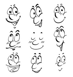 different facial expressions of human vector image vector image