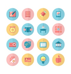 Education and training 16 Flat Icons Set vector image vector image
