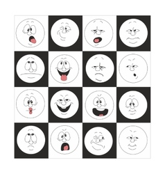 Emotion smiles set in box 002 vector image vector image
