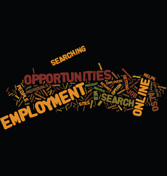 Employment opportunities text background word vector