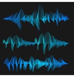 Equalizer Thin Line Set vector image vector image