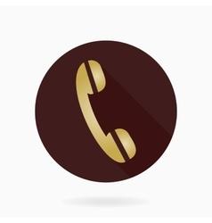Fine Telephone Receiver Flat Icon vector image