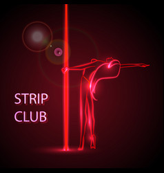 girl on the pylon strip bar vector image