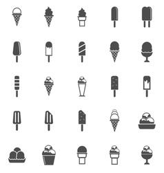 Ice cream icons on white background vector