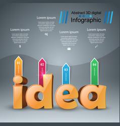 Idea 3d digital infographic vector